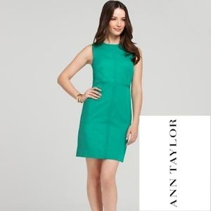NWOT Ann Taylor Seamed Zip Sheath Dress Size 4